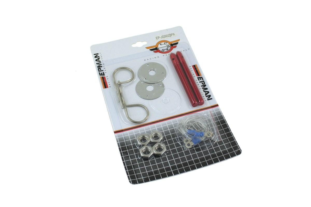 Zapinki maski Hair Pin Red - GRUBYGARAGE - Sklep Tuningowy